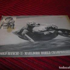 Coleccionismo deportivo: FOTOGRAFIA DE PIER - PAOLO BIANCHI - I - MARLBORO WORLD CHAMPIONSHIP TEAM. Lote 137648030
