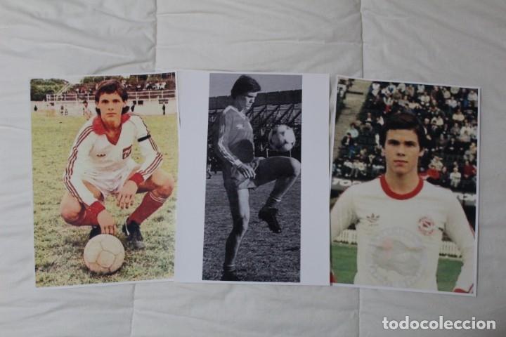 LOTE 3 FOTOGRAFÍAS FÚTBOL. FERNANDO REDONDO. EPOCA DE ARGENTINO JUNIORS. (Coleccionismo Deportivo - Documentos - Fotografías de Deportes)