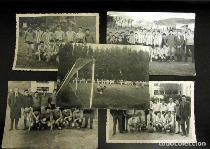 LOTE FOTOGRAFIAS ANTIGUAS FUTBOL (Coleccionismo Deportivo - Documentos - Fotografías de Deportes)