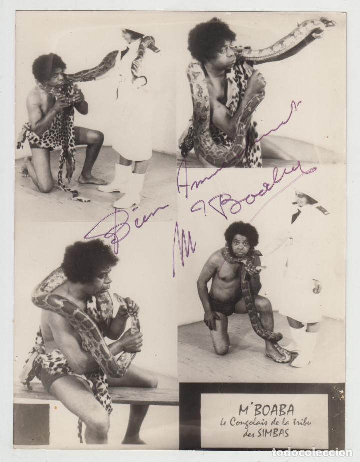 ANTIGUA FOTOGRAFÍA ORIGINAL AUTOGRAFIADA, M'BOABA, LUCHA LIBRE, PRESSING CATCH, WRESTLING, AÑOS 60 (Coleccionismo Deportivo - Documentos - Fotografías de Deportes)