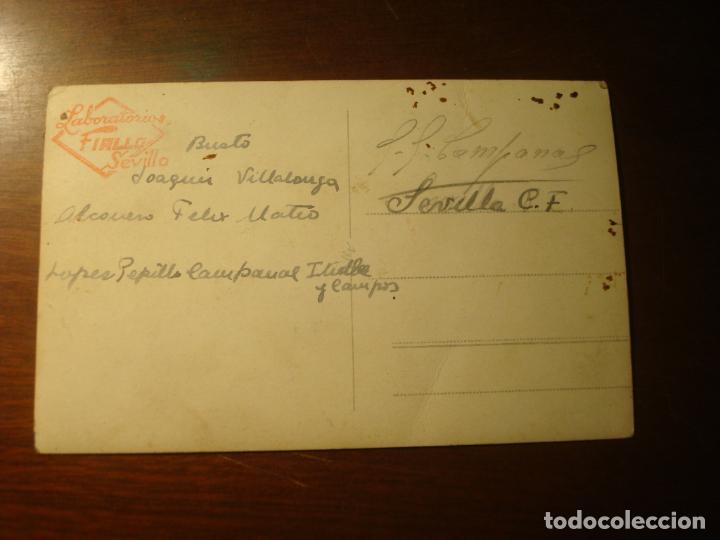 Coleccionismo deportivo: fotografia del sevilla c.f principio años 40 en la tracera se lee la alineacion - Foto 4 - 139466102