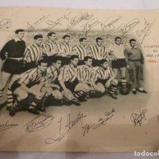 Coleccionismo deportivo: FOTO EQUIPO ATCO.BILBAO CAMPEON DE LIGA Y COPA 1955-56. Lote 139820678