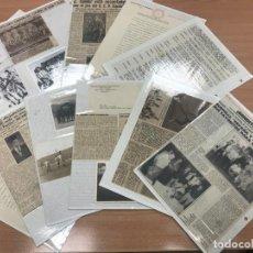Coleccionismo deportivo: LOTE1 37 FOTOS Y 30 RECORTES PERIÓDICOS AÑOS 50 RCD ESPANYOL. Lote 140244774
