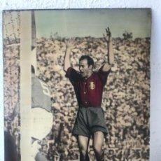Coleccionismo deportivo: GRAN FOTOGRAFÍA CON AUTOGRAFO DE CESAR RODRÍGUEZ ALVAREZ SELECCIÓN ESPAÑOLA DE FÚTBOL 1948.. Lote 141668982