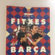 Coleccionismo deportivo: FITXES DEL BARÇA SPORT F.C.BARCELONA CRUYFF ZUBIZARRETA BUSQUETS GUARDIOLA KOEMAN ETC.. Lote 142105298