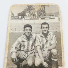 Coleccionismo deportivo - FOTOGRAFIA JUGADORES RCD ESPAÑOL ESTADIO SARRIA FOTO FUTBOL ESPANYOL 1950's JUGADOR - 142439177