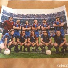 Coleccionismo deportivo: BARÇA FOTO(30 X 40) LIGA 74-75 CAMP NOU ALINEACIÓN F.C.BARCELONA 0 R.MADRID 0. Lote 147707933