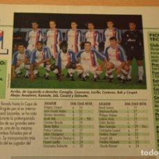Coleccionismo deportivo - FUTBOL FOTO DON BALON TEMPORADA 1997-98 TAMAÑO DE LA FOTO 12X7,5 CMS OLYMPIQUE LYON - 142962750