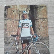 Coleccionismo deportivo: CICLISMO - EQUIPO TEKA - AÑO 1976 - JUAN FRANCISCO DEL OLMO. Lote 142968638