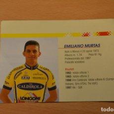Coleccionismo deportivo: FOTO DEL CICLISTA EMILIANO MURTAS (VINI CALDIROLA). Lote 143168798