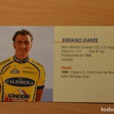 Coleccionismo deportivo: FOTO DEL CICLISTA STEFANO DANTE (VINI CALDIROLA). Lote 143169030