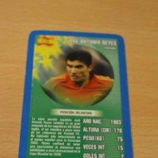 Coleccionismo deportivo: CARTA DE TOP TRUMPS JOSE ANTONIO REYES (ESPAÑA). Lote 143169218