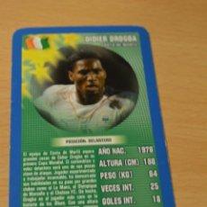 Coleccionismo deportivo: CARTA DE TOP TRUMPS DIDIER DROGBA (COSTA DE MARFIL). Lote 143169398