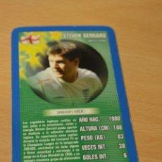 Coleccionismo deportivo: CARTA DE TOP TRUMPS STEVEN GERRARD (INGLATERRA). Lote 143169742