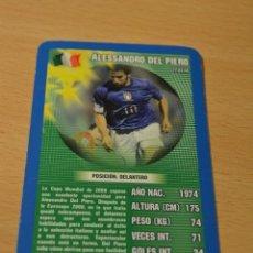 Coleccionismo deportivo: CARTA DE TOP TRUMPS ALESSANDRO DEL PIERO (ITALIA). Lote 143171426