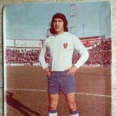 Coleccionismo deportivo: FOTO TAMAÑO 40X25 REAL ZARAGOZA FUTBOL ROMAREDA : SATURNINO ARRUA. Lote 143878586