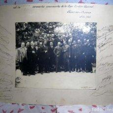 Coleccionismo deportivo: FOTOGRAFIA FIRMADA DE LOS CONCURSANTES DE LA COPA GORDON-BENET AÑO 1925, 47 X36 CM. Lote 143910378