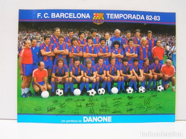 FOTO PLANTILLA FUTBOL F.C. BARCELONA TEMPORADA 82-83- DANONE - CON FIRMAS JUGADORES . DE 13X18 CM. (Coleccionismo Deportivo - Documentos - Fotografías de Deportes)