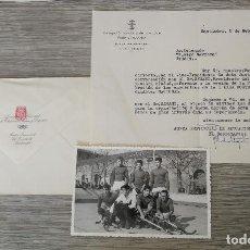 Coleccionismo deportivo: ANTIGUA FOTOGRAFIA DE EQUIPO DE HOCKEY - DELEGACION NACIONAL DEPORTES SANTANDER Y EL EQUIPO GERPOSA . Lote 145635742