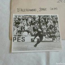 Coleccionismo deportivo: JORGE D`ALESSANDRO FUTBOLISTA ARGENTINO. Lote 146266953