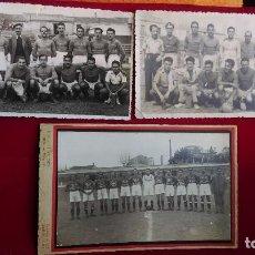 Coleccionismo deportivo: CD-93.- LOTE DE -- 3 -- FOTOS, DE JUGADORES DEL -- GUECHO-- ( VIZCAYA TEMPORADA 1949-50 , VER FOTOS . Lote 146294914