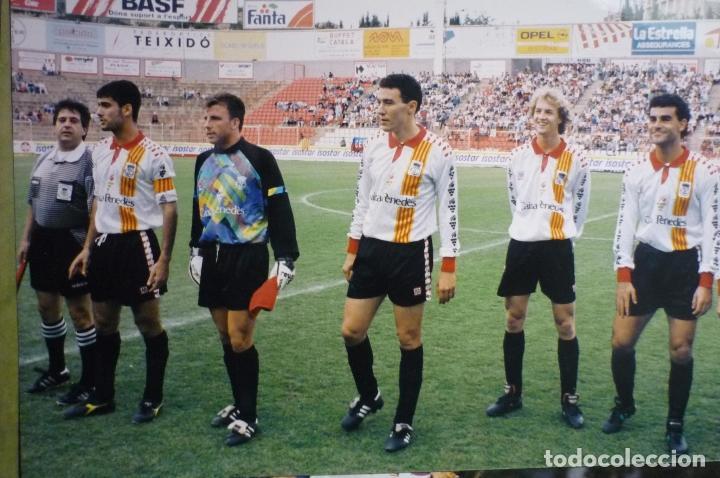 FOTOGRAFIA PRENSA TAMAÑO POSTAL SELECC.CATALANA-CAMPO NASTIC TARRAGONA.-GUARDIOLA,CRUYFF -HIJO-1995 (Coleccionismo Deportivo - Documentos - Fotografías de Deportes)