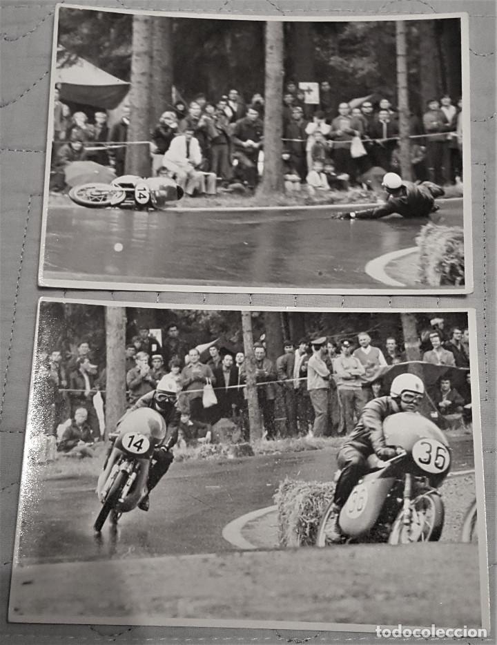 2 FOTOS DE PILOTOS ESPAÑOLES MOTOCICLISMO AÑOS 60/70 (Coleccionismo Deportivo - Documentos - Fotografías de Deportes)
