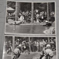 Coleccionismo deportivo - 2 fotos de pilotos españoles motociclismo años 60/70 - 149909062