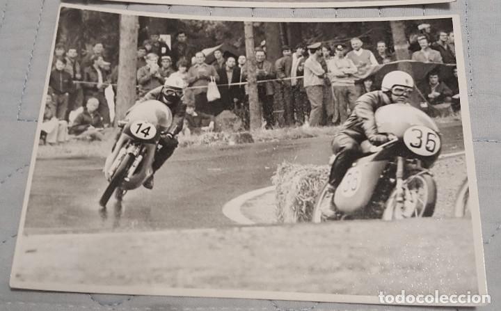 Coleccionismo deportivo: 2 fotos de pilotos españoles motociclismo años 60/70 - Foto 3 - 149909062