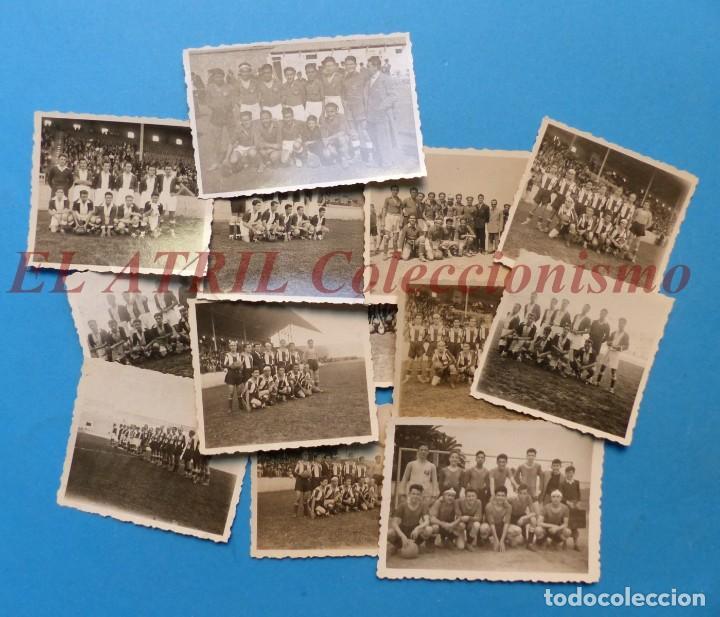 13 ANTIGUAS, BONITAS E INTERESANTES FOTOGRAFIAS DE ALINEACIONES DE EQUIPOS DE FUTBOL - AÑOS 1930-40 (Coleccionismo Deportivo - Documentos - Fotografías de Deportes)