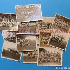 Coleccionismo deportivo - 13 ANTIGUAS, BONITAS E INTERESANTES FOTOGRAFIAS DE ALINEACIONES DE EQUIPOS DE FUTBOL - AÑOS 1930-40 - 150943318