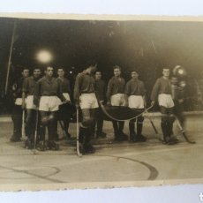 Coleccionismo deportivo: FOTO 1955 TERESA HERRERA SELECCION CORUÑESA CON BANDERA PORTUGAL CORUÑA HOCKEY PATINES HOQUEI. Lote 151504713