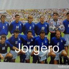 Coleccionismo deportivo: SELECCIÓN ITALIANA DE FÚTBOL. ALINEACIÓN FINALISTA MUNDIAL 1994 EN LOS ANGELES CONTRA BRASIL. FOTO. Lote 174422467