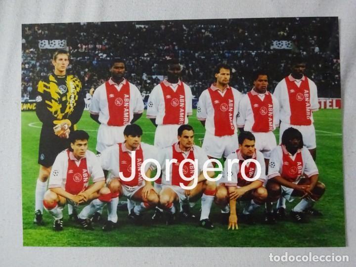 AJAX DE AMSTERDAM. ALINEACIÓN FINALISTA CHAMPIONS 1995-1996 EN ROMA CONTRA LA JUVENTUS. FOTO (Coleccionismo Deportivo - Documentos - Fotografías de Deportes)