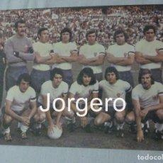 Coleccionismo deportivo - R. ZARAGOZA. ALINEACIÓN FINALISTA COPA GENERALÍSIMO 1975-1976 EN EL BERNABEÚ CONTRA AT. MADRID. FOTO - 159702765