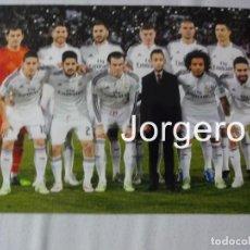 Coleccionismo deportivo - R. MADRID. ALINEACIÓN CAMPEÓN MUNDIAL DE CLUBES 2014 EN MARRAKECH CONTRA SAN LORENZO. FOTO - 151667590