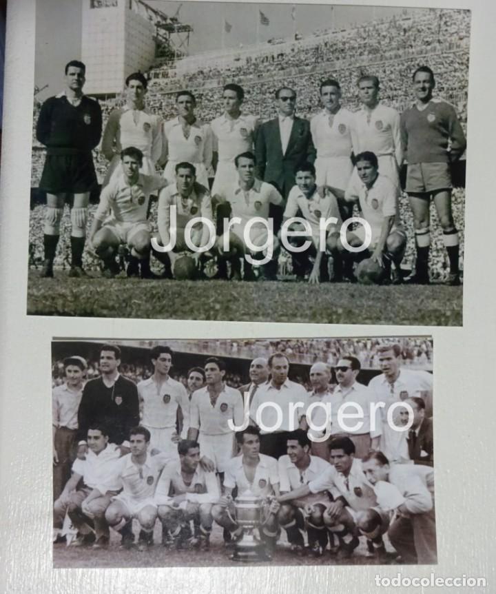 VALENCIA C.F. LOTE 2 FOTOS CAMPEÓN COPA GENERALÍSIMO 1953-1954 EN CHAMARTÍN CONTRA EL BARCELONA (Coleccionismo Deportivo - Documentos - Fotografías de Deportes)