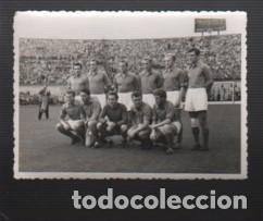 FOTOGRAFIA FUTBOL DE LA SELECCIÓN HUNGARA CON LA ALINEACIÓN DE KUBALA - FUTBOL CLUB BARCELONA BARÇA (Coleccionismo Deportivo - Documentos - Fotografías de Deportes)