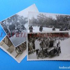 Coleccionismo deportivo: VALENCIA - 4 FOTOGRAFIAS CARRERAS DE MOTOS MOTOCICLISMO - AÑOS 1930-40. Lote 153188882