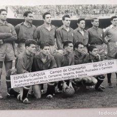 Coleccionismo deportivo: FOTOGRAFIA SELECCION ESPAÑOLA .1.954. Lote 155341618