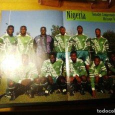 Coleccionismo deportivo: POSTER DE LA REVISTA FUTBOL MUNDIAL. NIGERIA CAMPEON DE AFRICA 1994.FINIDI.YEKINI.OKOCHA.AMUNIKE. Lote 155979106