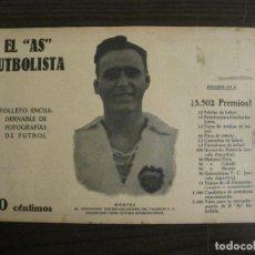 Coleccionismo deportivo: MONTES-VALENCIA FC-FOTOGRAFIAS FUTBOL-AS FUTBOLISTA-FC NUREMBERG-SAMITIER-VER FOTOS(V-16.175). Lote 156879806