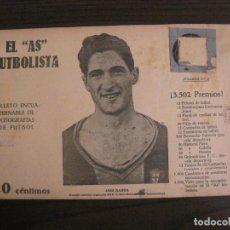 Coleccionismo deportivo: SAGI BARBA-FC BARCELONA-FOTOGRAFIAS FUTBOL-AS FUTBOLISTA-FINAL 1922-IRUN VS BARÇA-VER FOTOS(V-16178). Lote 156881238