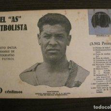 Coleccionismo deportivo: MONTESINOS-RCD ESPAÑOL-FOTOGRAFIAS FUTBOL-AS FUTBOLISTA-GRACIA ESPORTS CLUB-VER FOTOS(V-16.183). Lote 156883938
