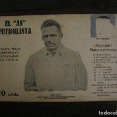 Coleccionismo deportivo: RENE PETIT-REAL UNION IRUN-FOTOGRAFIAS FUTBOL-AS FUTBOLISTA-ZAMORA-CATALUNYA-VER FOTOS(V-16.186). Lote 156885418