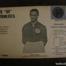 Coleccionismo deportivo: ARMET KINKE-ESCUELA PRECIOSISTA FUTBOL-FOTOGRAFIAS FUTBOL-AS FUTBOLISTA-VER FOTOS(V-16.188). Lote 156886398