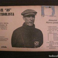 Coleccionismo deportivo: BORDOY-CD EUROPA-FOTOGRAFIAS FUTBOL-AS FUTBOLISTA-ZAMORA-ALCANTARA-AVENÇ-VER FOTOS(V-16.190). Lote 156887454