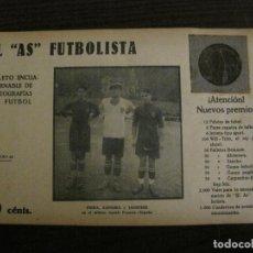 Coleccionismo deportivo: PIERA-ZAMORA-SAMITIER-FOTOGRAFIAS FUTBOL-AS FUTBOLISTA-ALCANTARA-VER FOTOS(V-16.195). Lote 156890274