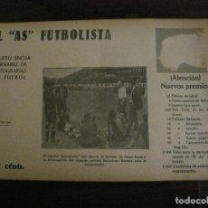 Coleccionismo deportivo: FC BARCELONA VS CD EUROPA-FOTOGRAFIAS FUTBOL-AS FUTBOLISTA-ALCANTARA-ZAMORA-VER FOTOS(V-16.197. Lote 156891162