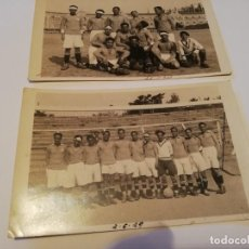 Coleccionismo deportivo: DOS FOTOGRAFÍA EQUIPO FÚTBOL BANCO BANESTO FÚTBOL AÑOS 20. Lote 157014614